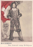 Bellinzona, Tiro Federale 1929 + Cachet Officiel, Schutzenfest (16.7.29) - TI Ticino