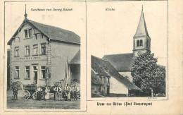 Gruss Aus Butten - 2 Vues - Gasthaus Von Georg RAUCH - Kirche - Animation - Francia