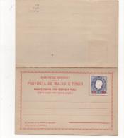 Bilhete Postal 30 On 200 Reis Com Resposta Paga, Unused 1892 - Timor