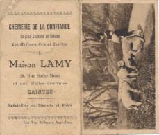 CALENDRIER PUB 1933 -  MAISON LAMY - SPECIALITES DE BISCUITS ET CAFES - SAINTES