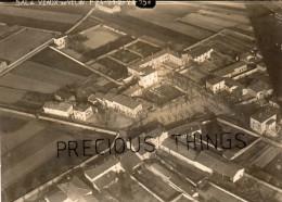 VAULX EN VELIN RARE  PHOTO ORIGINALE AERIENNE PRISE PAR MAJOREL?  AVIATEUR  EN 1924 - Lieux