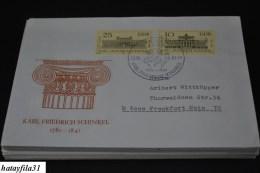 DDR  1981  Gelaufene  FDC    Mi. 2619 - 2620     /  200. Geburtstag Von Karl Friedrich Schinkel  ( T - 87 ) - DDR