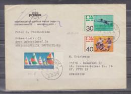 Lettre Distribué Dans 1975 Route Allemagne - Bucuresti - BRD