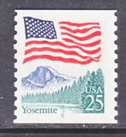 U.S. 2280    PLATE  5  LARGE BLOCK TAG     **   YOSEMITE  PARK   FLAG - Coils (Plate Numbers)