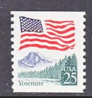 U.S. 2280a        MOTTLED  TAG     **  YOSEMITE  PARK   FLAG - Coils & Coil Singles