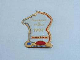 Pin's CHAMPIONNAT DE FRANCE DE PATINAGE ARTISTIQUE 1991, COLOMBES - Patinage Artistique