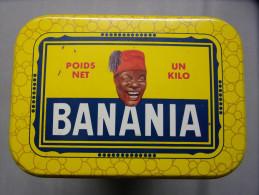 """Boite En Fer CHOCOLAT  """"BANANIA Petit Déjeuner"""" : Illustration : Tirailleur Sénégalais """"EPICES"""" - Scatole"""