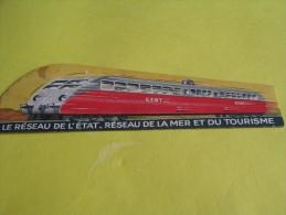 Le Réseau De L'Etat/Réseau De La Mer Et Du Tourisme /Train/ Vers 1945 ?      VP660 - Bookmarks