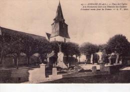 Andard.. Place De L'Eglise.. Le Monuments à La Mémoire Des Enfants Morts Pour La France - Other Municipalities