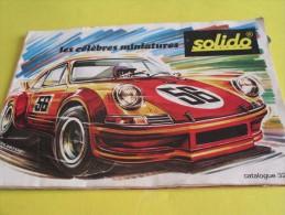 Catalogue /SOLIDO/Les Célébres Miniatures/ Lelchat/Mantes/ 1974        VOIT37 - Voitures, Camions, Bus