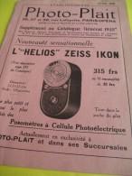 Catalogue /Photo-Plait/Paris-Opéra/ 1935           CAT68 - Cameras