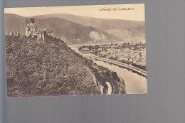 Cpa ,  Lahneck Mit Lahnstein        ,    Voyagé - Lahnstein