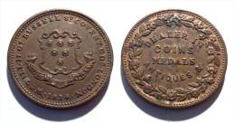 ANGLETERRE - U.K. - LONDRES - PENNY WILLIAM TILL 17 GT RUSSELL ST COVENT GDN LONDON 1834 DEALER IN COINS MEDALS ANTIQUES - Monétaires/De Nécessité
