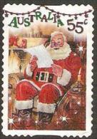 AUSTRALIA - DIECUT - USED 2010 55c Christmas - Santa Reading A Letter, Foil Embossed - 2010-... Elizabeth II