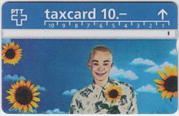 SWITZERLAND A-751 Hologram PTT - People, Woman, Plant, Sunflower - 507B - used