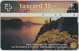 SWITZERLAND A-763 Hologram PTT - Landscape, Lake, Sunset - 605F - used
