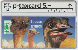SWITZERLAND A-791 Hologram PTT Private - Animal, Bird, Ostrich - 425L - MINT