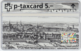 SWITZERLAND A-793 Hologram PTT Private - Painting, Historic view, Town - 505L - MINT