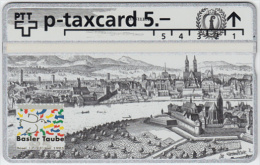 SWITZERLAND A-794 Hologram PTT Private - Painting, Historic view, Town - 505L - MINT