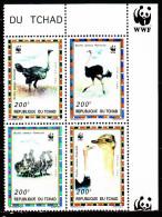 Tchad 649 / 52 Faune Protégée / L'autruche / WWF