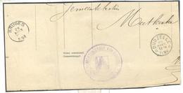_ik120: * DUDZEELE * 28 MARS 13-14 1898 : Bericht Van Verblijfverandering> BRUGES 29 MARS 1898: Fragment Van Model Nr4 - Postmarks With Stars