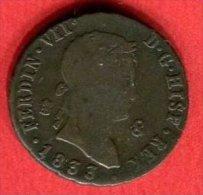FERDINAND VII 1833 (C 118)  TB+ 10 - Espagne