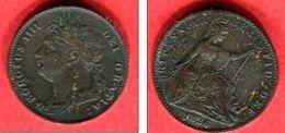 GUILLAUME IV FARTHING  1826 (KM 677)  TTB 8 - 1816-1901 : Frappes XIX° S.