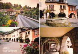 CPM   De  ALBY Sur CHERAN  (74)  -  Vues Diverses Du Village  //  TBE - Bourg Saint Maurice