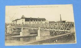 Compiègne - Pont Provisoire Lancé Sur L'oise Pendant La Guerre 1914 - 1918 :::: Animation - Attelages - Guerra 1914-18