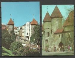 ESTLAND Estonia 1973 & 1989 Tallinn Reval Viru Gate Unused/sauber - Estonia
