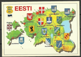 ESTLAND Estonia Ca 2000 Wappen Der Landkreisen Coat Of Arms Of The Counties Unused/sauber - Estland