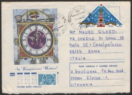 SOVIET UNION 1984 - MAILED ENVELOPE - HAPPY NEW YEAR 1985 - CLOOK TOWER - Orologeria