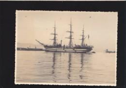 Photo - Originale - Bateau Voilier - Vespucci , Gibraltar, Janvier 1939 - Format  13 x 17.5 cm