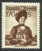Austria, 2.70 S. 1951, Sc # 550, MH - 1945-.... 2nd Republic
