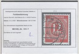Gemeinschaftsausgaben Michel No. 919 F gestempelt used / ARGE farbbestimmt