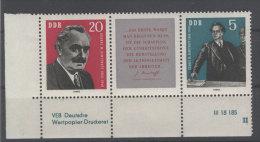 DDR Michel No. 893 - 894 W Zd 31 ** postfrisch DV Druckvermerk FN II / No. 893 senkrechter Bug