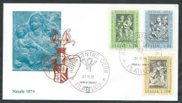 1973 ITALIA FDC ALA NATALE NO TIMBRO ARRIVO - EDG14 - 6. 1946-.. Republic