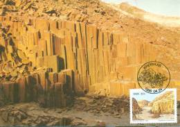 CM-Carte maximum card #1986-SWA-South West Africa-Afrique Sud-Ouest #Geologie#Rock formations#Twyfelfontein.