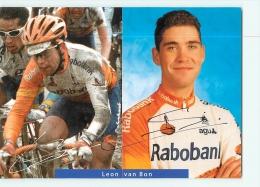 Leon VAN BON , Autographe Manuscrit, Dédicace. 2 Scans. Rabobank - Radsport