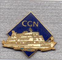 Pin´s  Bateau, LAUSANNE, C G N, Compagnie  Générale  De  Navigation - Bateaux