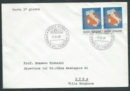 1965 ITALIA FDC GIORNATA FRANCOBOLLO NO TIMBRO ARRIVO - EDG17 - 6. 1946-.. Republic