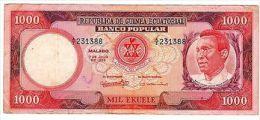 Guinee GUINEA EQUATORIAL Billet 1000 EKUELE 1975 P13 XF // AU - Banknotes