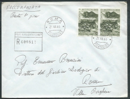 1966 ITALIA FDC BATTAGLIA DI BEZZECCA NO TIMBRO ARRIVO - EDG17 - 6. 1946-.. Republic