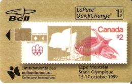 TARJETA DE CANADA CON UN SELLO DE LA OLIMPIADA DE MONTREAL (SELLO-STAMP) NUEVA-MINT SIN BLISTER - Sellos & Monedas