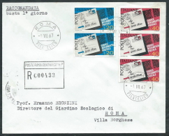 1967 ITALIA FDC CAP TIMBRO ARRIVO - EDG17 - 6. 1946-.. Republic