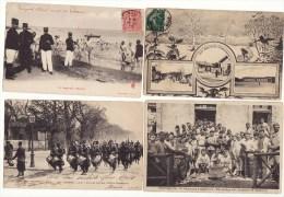 Carte Postale Guerre Bruyères 5e Régiment D'artillerie Baignade Militaire Auxerre  4e Rentre En Ville 160e Régiment 4 Ca - Régiments