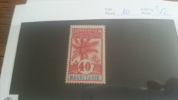 LOT 223321 TIMBRE DE COLONIE MAURITANIE NEUF* N�10 VALEUR 12 EUROS
