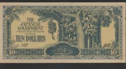 O) 1942 JAPAN-MALAYSIA, JAPANESE BANK NOTE OCCUPATION,TREES, XF - Malaysia