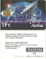 CARTE PUCE TEST DEMO SIM GSM AUTRE TELECOM GENEVA '95' GENEVE ANRITSU JAPON - Mobicartes: Móviles/SIM)