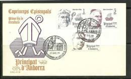 ANDORRA- SOBRE DE PRIMER DIA EDIFIL Nº 130/132 - Nuevos